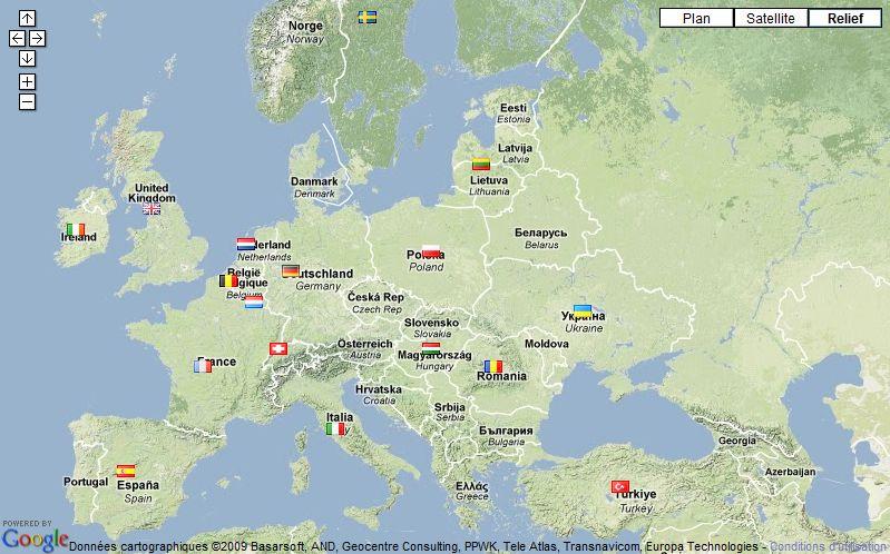 Carte du Monde Centrée Sur L'europe Sur la Carte du Monde