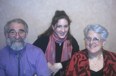 Mon père, Fiona (ma nièce) et ma mère...