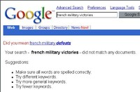 Google French Military Victories Search